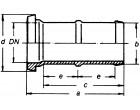 Kegelschlauchstutzen VA 2/3 massive Tülle mit Flügelmutter WKN/19