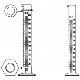 Glas-Messzylinder in verschiedenen Größen