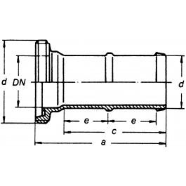 G-Schlauchstutzen massiv f. lichte Weite DN 50