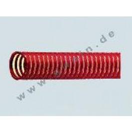 Spiral- Getränkeschlauch 10 bar. DN 25 rot