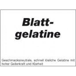 Blattgelatine. Gold- Weiß  1 kg Gebinde