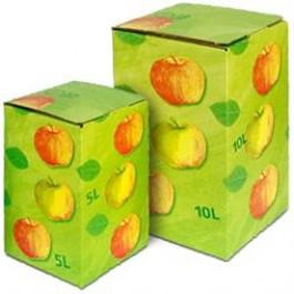 Bag in Box Karton 5+10 Liter grün mit Äpfel