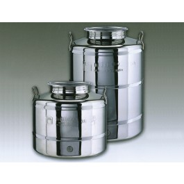 """Edelstahl-Getränkebehälter, mit geschweißtem Boden 15, 30 und 50 Liter, inkl. 1/2"""" Auslaufhahn"""