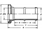 Gewindeschlauchstutzen VA 1/3 WKN. mit massiver Tülle 19 mm