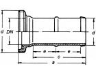 Gewindeschlauchstutzen VA 1/3 WKN. mit massiver Tülle 32 mm