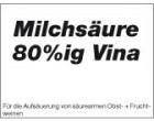 Milchsäure 80%ig Vina Flasche 1000 gr Flasche