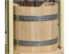 Presskorb aus Buchenholz für ENOL OP Pressen, komplett mit Edelstahl Ringen